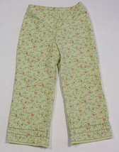 GYMBOREE GIRLS 5 CROPPED CAPRI PANTS SPRING BLOSSOMS GREEN PINK FLORAL F... - $7.56