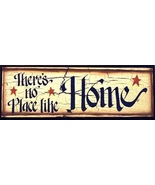45904T - No Place Like Home primitive wood Sign  - $10.95