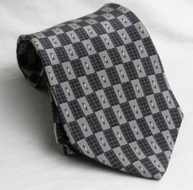 Kenneth Cole  Tie Necktie Geometeric Gray, White, Black Gold - $10.93