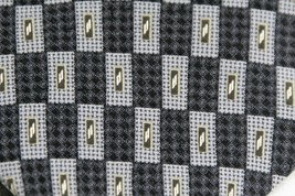 Kenneth Cole  Tie Necktie Geometeric Gray, White, Black Gold image 2