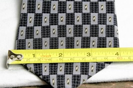 Kenneth Cole  Tie Necktie Geometeric Gray, White, Black Gold image 4