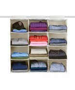 The G.U.S No-Sag Hanging Essential 4-Shelf Closet Organizer, Ecru/Beige,... - $63.67