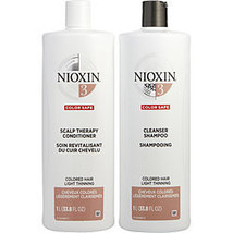 Nioxin By Nioxin System 3 Scalp Therapy Conditioner And Cleanser Shampoo For Col - $122.00