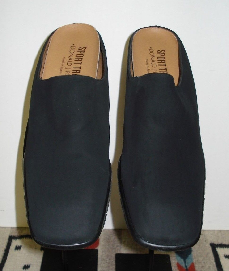 Primary image for Womem's Donald J Pliner Travel Sport Black Stretch Fabric Slide Mules Sz. 7M