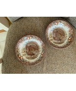 Set of 2 Royal Stafford England Thanksgiving Turkey Soup Cereal Dish Bow... - $34.99