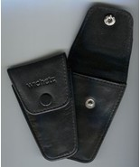 Black Leather Scissor Sheath with Cover felt lined from Wichelt  - $5.00