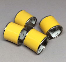 Williams Sonoma Yellow Enamel Napkin Rings Set ... - $23.23