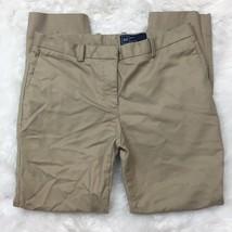 Gap Women's Career Work Slim Crop Tan Beige Khaki Pants Size 2 Regular - $14.84