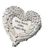 Angel Wings Memorial Garden Marker Stepping Stone or Wall Hanging When H... - $24.74