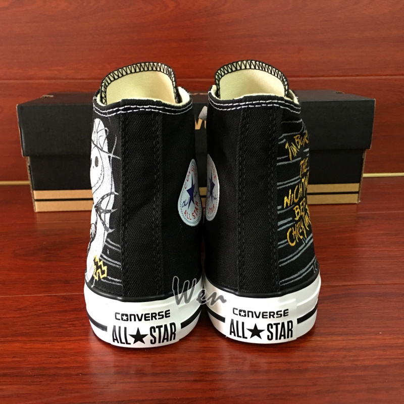 Nightmare before Christmas Converse Hand Painted Canvas Sneakers Men Women Shoes
