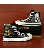Nightmare before Christmas Converse Hand Painted Canvas Sneakers Men Wom... - $129.00