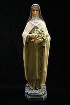 "16"" Saint Therese Little Roses Flowers Catholic Statue Sculpture Made in... - $79.95"