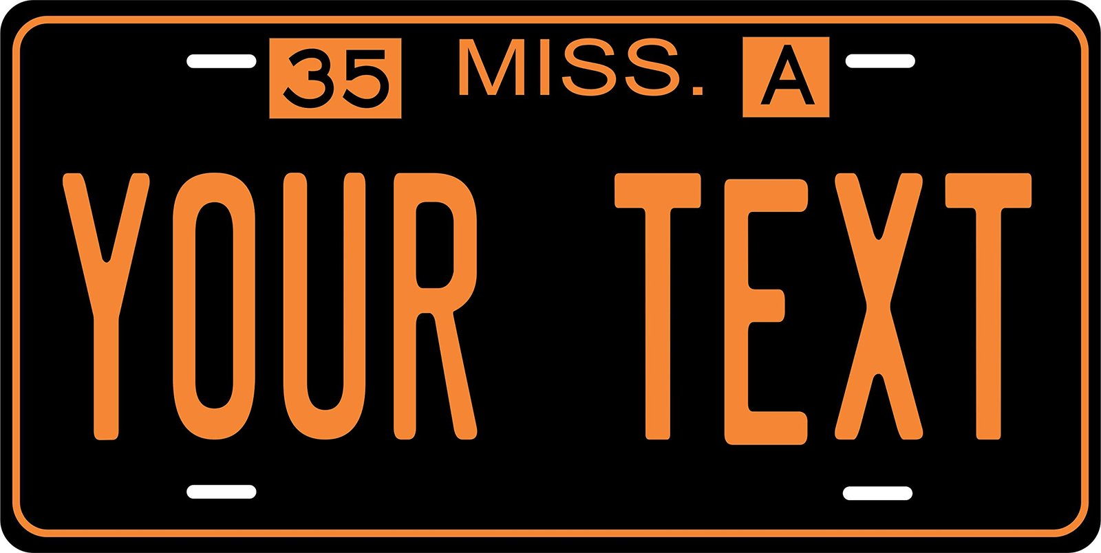 Mississippi 1935 Personalized Tag Vehicle Car Auto License Plate