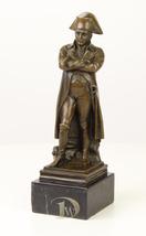 Antique Home Decor Bronze Sculpture shows Napoleon Bonaparte, signed * F... - $249.00