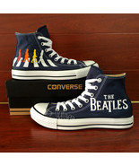 Custom The Beatles Abbey Road Converse Hand Painted Shoes Men Women Snea... - $145.00