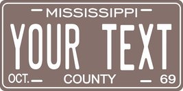 Mississippi 1969 Personalized Tag Vehicle Car Auto License Plate - $16.75