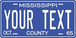 Mississippi 1965 Personalized Tag Vehicle Car Auto License Plate - $16.75