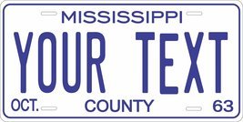 Mississippi 1963 Personalized Tag Vehicle Car Auto License Plate - $16.75