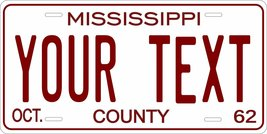 Mississippi 1962 Personalized Tag Vehicle Car Auto License Plate - $16.75