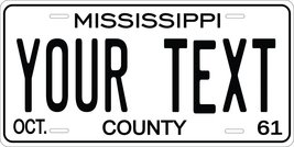 Mississippi 1961 Personalized Tag Vehicle Car Auto License Plate - $16.75