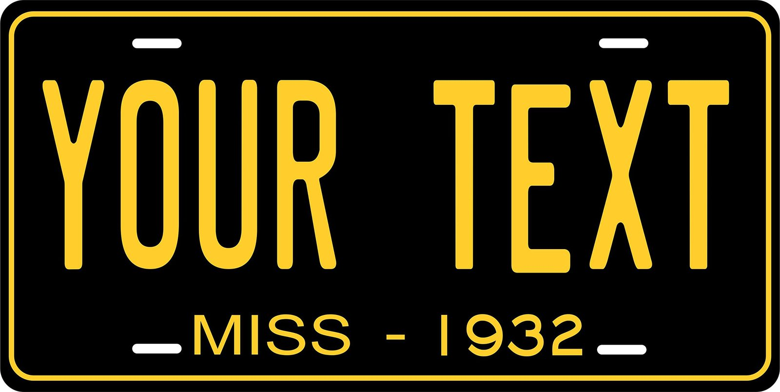Mississippi 1932 Personalized Tag Vehicle Car Auto License Plate