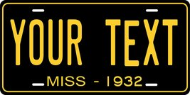 Mississippi 1932 Personalized Tag Vehicle Car Auto License Plate - $16.75