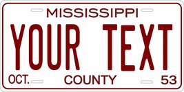 Mississippi 1953 Personalized Tag Vehicle Car Auto License Plate - $16.75