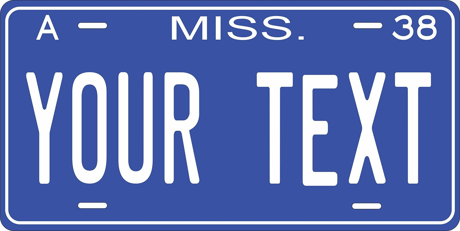 Mississippi 1938 Personalized Tag Vehicle Car Auto License Plate