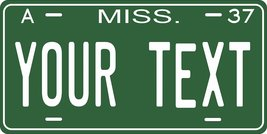 Mississippi 1937 Personalized Tag Vehicle Car Auto License Plate - $16.75