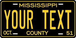 Mississippi 1951 Personalized Tag Vehicle Car Auto License Plate - $16.75