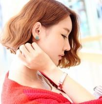 Women's Dark Green Rhinestone Starfish Stud Earrings - $8.99