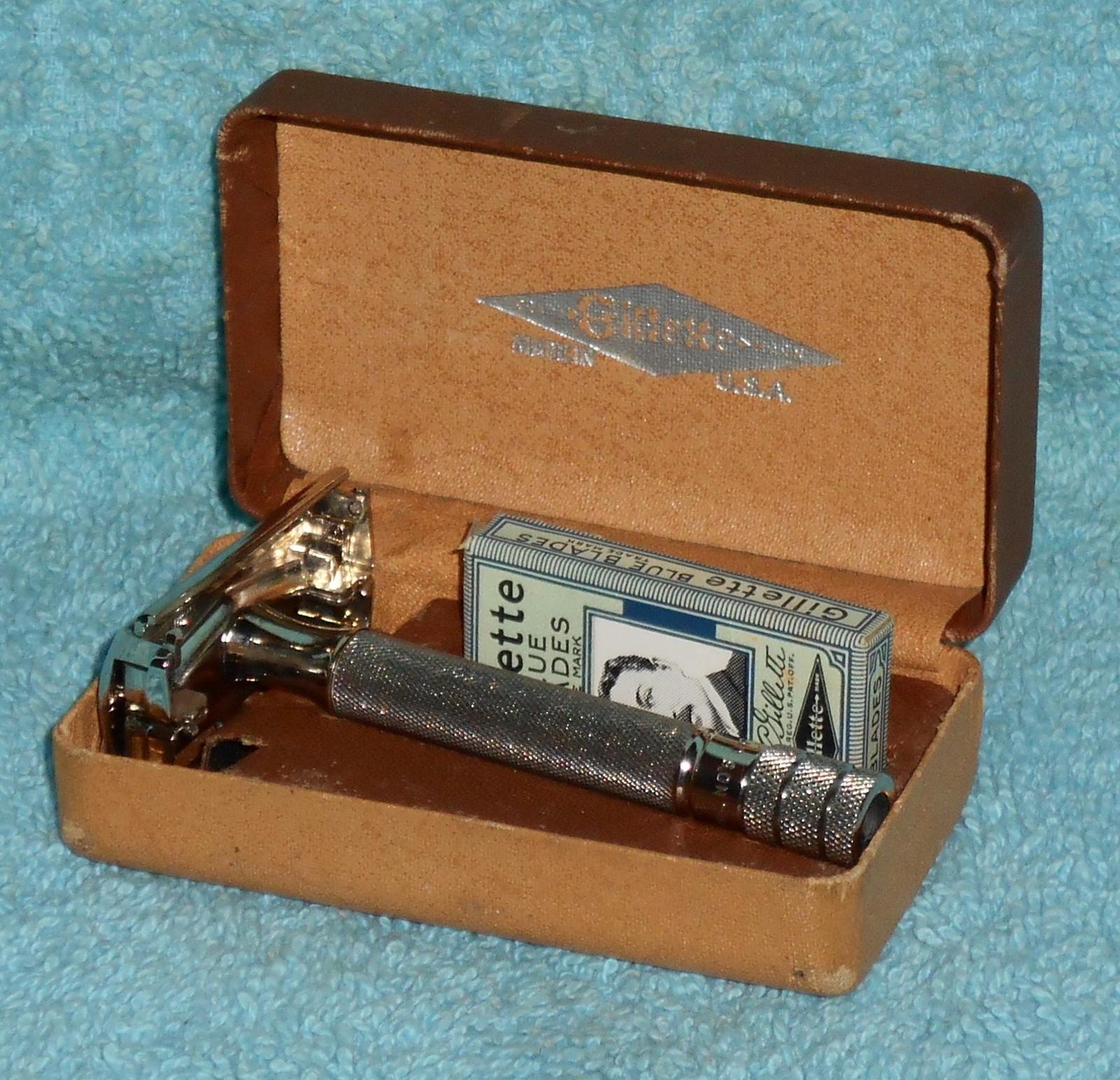 1941 gillette ranger tech razor w case blades  2