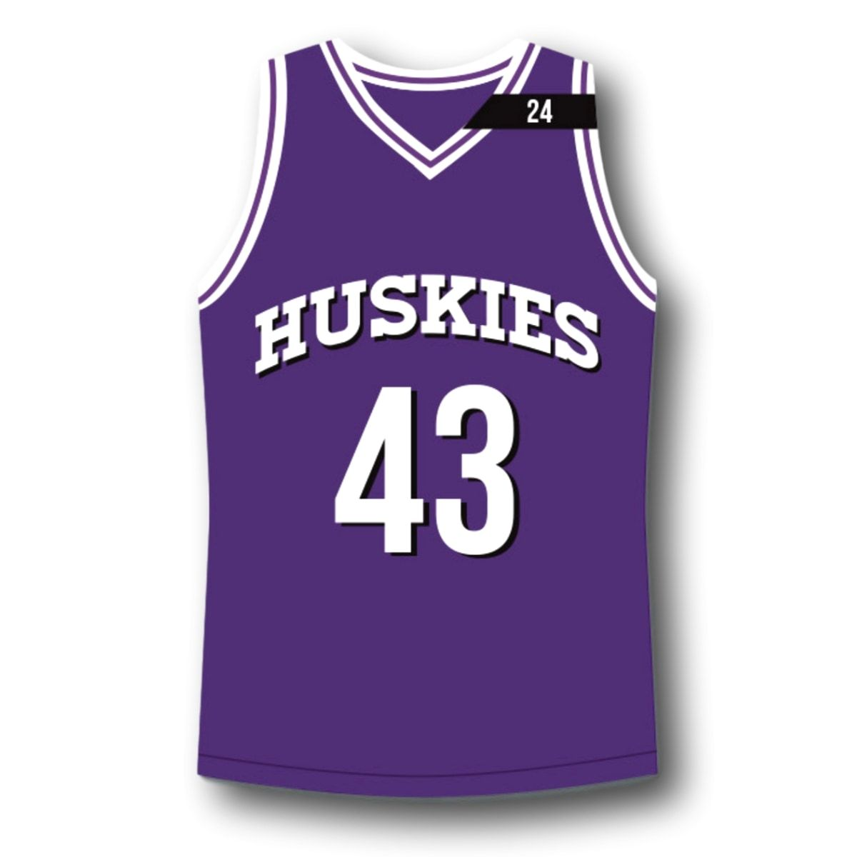 K. Tyler #43 Huskies The 6th Man Basketball Jersey Purple Any Size