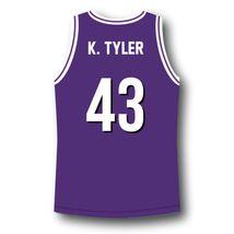 K. Tyler #43 Huskies The 6th Man Basketball Jersey Purple Any Size image 2