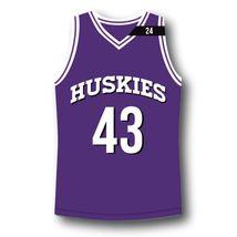 K. Tyler #43 Huskies The 6th Man Basketball Jersey Purple Any Size image 4