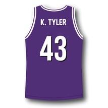 K. Tyler #43 Huskies The 6th Man Basketball Jersey Purple Any Size image 5
