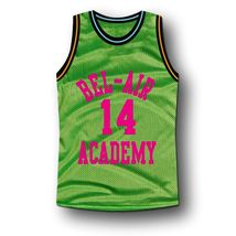 Smith #14 Bel-Air Academy Basketball Jersey Green Any Size image 1