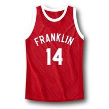 Manigault #14 Franklin High School Rebound Basketball Jersey Red Any Size image 4