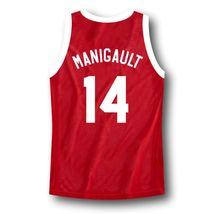 Manigault #14 Franklin High School Rebound Basketball Jersey Red Any Size image 5