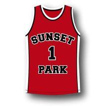 #1 Sunset Park Movie Fredo Starr Shorty Basketball Jersey Red Any Size image 4
