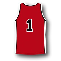#1 Sunset Park Movie Fredo Starr Shorty Basketball Jersey Red Any Size image 5