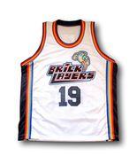 Aaliyah #19 BrickLayers Rock N' Jock Basketball Jam Jersey White Any Size - $29.99