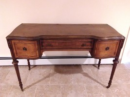 Rare Antique wood vanity make up table( original finish )excellent condi... - $450.00