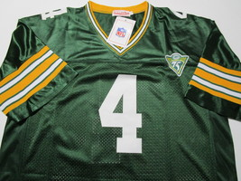 BRETT FAVRE / HALL OF FAME / AUTOGRAPHED GREEN BAY PACKERS THROWBACK JERSEY COA image 2
