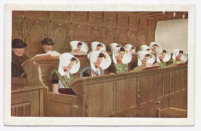 Primary image for c1930 - Citizens of Holland in the Pews - Unused
