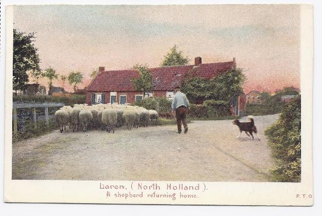 Primary image for c1930 - Laren, North Holland - A Shepherd Returning Home - Used