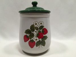 McCoy Strawberry Country Flour Canister with Li... - $19.98