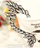 Stylish Rock Black Rhinestone Elf Ear Cuff(Black) - $8.99