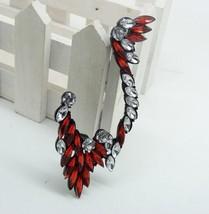Stylish Rock Black Rhinestone Elf Ear Cuff(Red) - $8.99