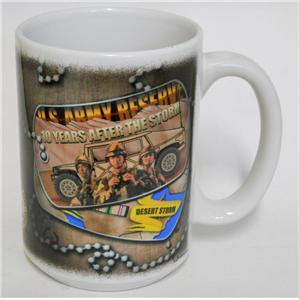 2000 CUPPA ~ U.S. Army Reserve ~ 10 Years After Desert Storm ~ Military Cup Mug